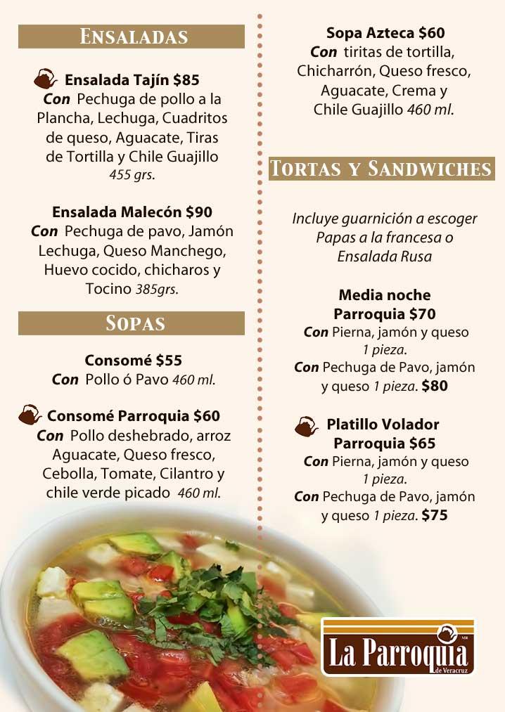 San Miguel Cafe Menu